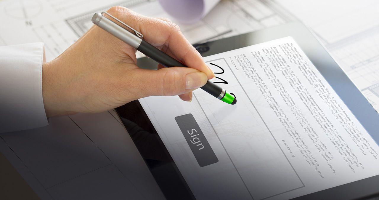 Применение электронной подписи